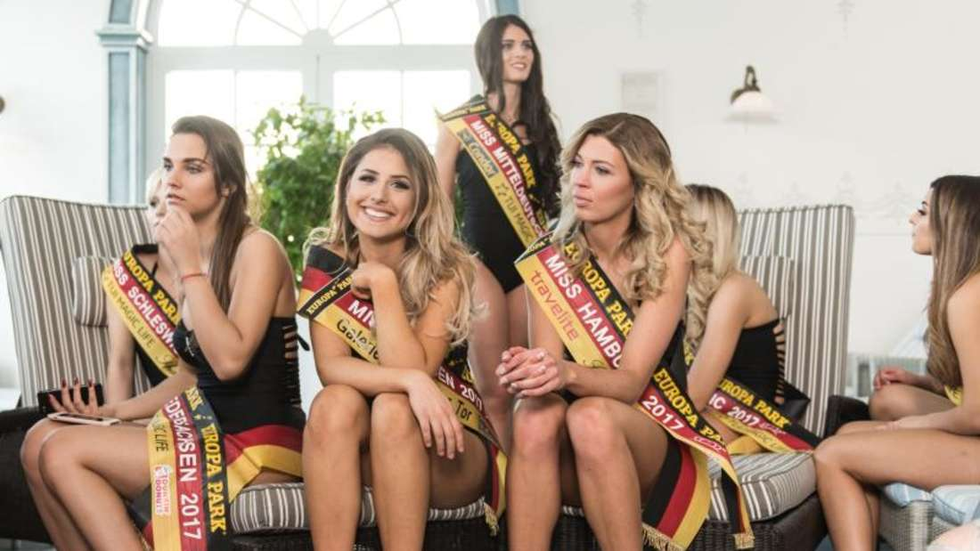 """Kandidatinnen zur Wahl der """"Miss Germany"""" im Europa-Park in Rust. Foto: Patrick Seeger"""