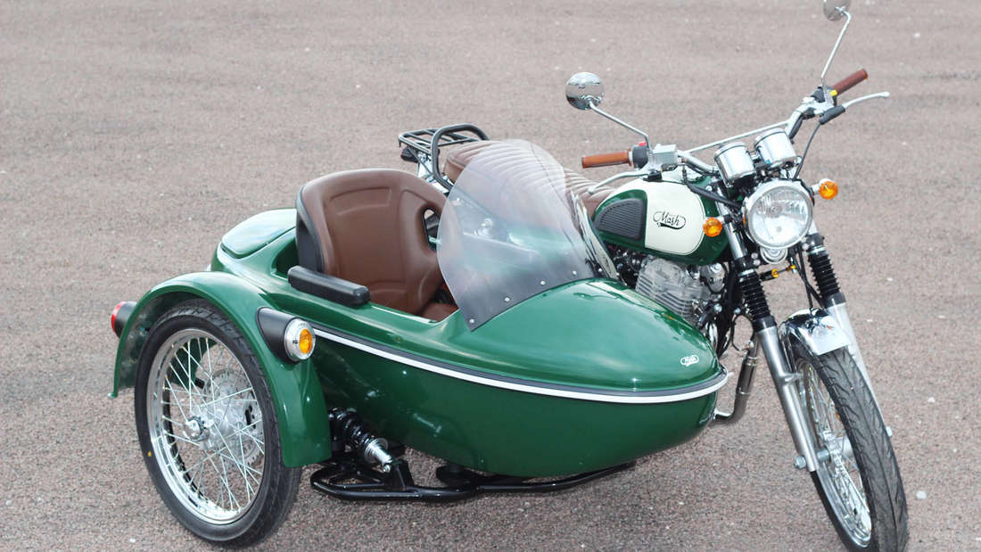 Mash spendiert seiner FH 400 ein drittes Rad und bringt im Mai ein Motorradgespann auf den Markt: das Mash FH Family Side.
