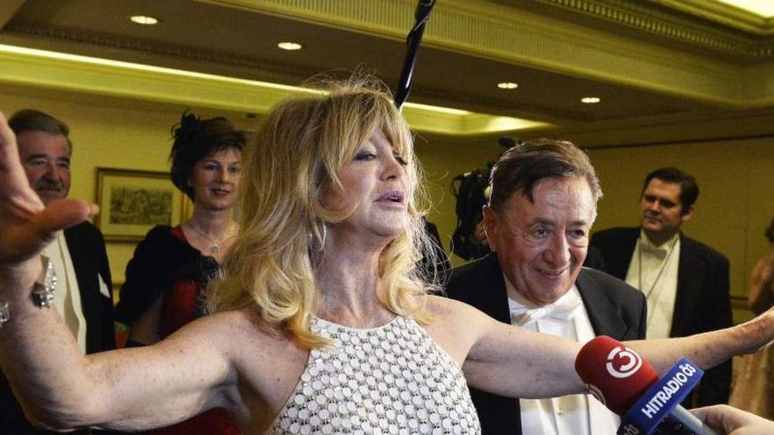 Richard Lugner schwärmt von seinem Gast Goldie Hawn. Foto:Herbert Pfarrhofer