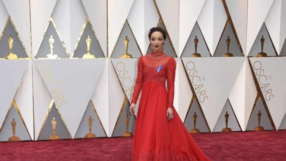 Perfekter Look: Die Schauspielerin Ruth Negga bei den Oscars. Foto: Jordan Strauss