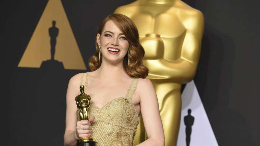 Oscargewinnerin Emma Stone machte auch modsich eine gute Figur. Foto: Jordan Strauss