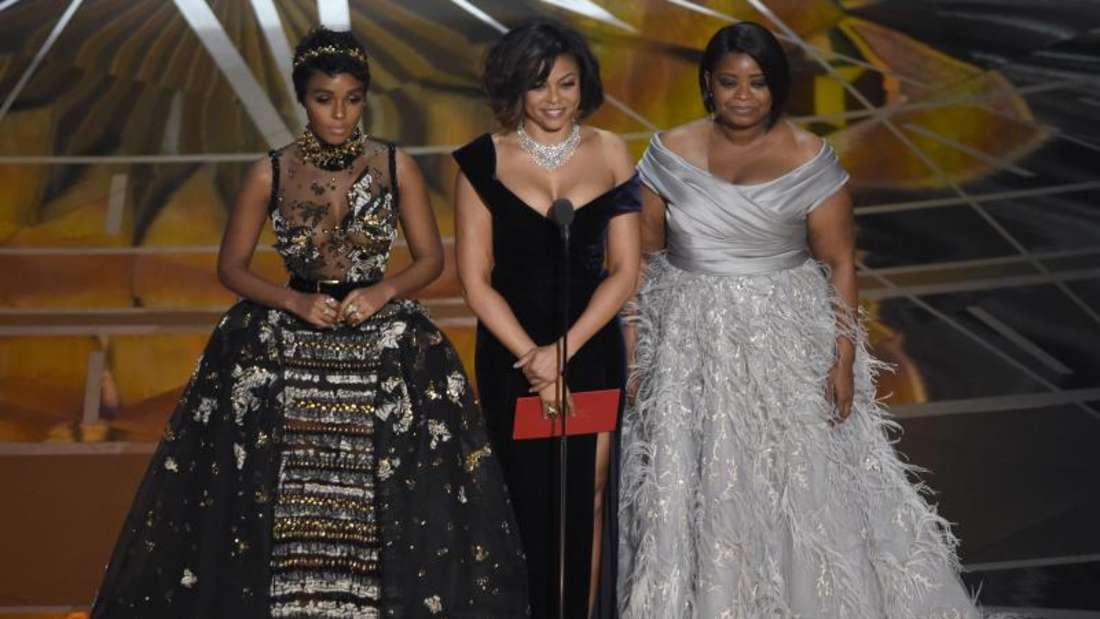 Janelle Monáe (l-r), Taraji P. Henson und Octavia Spencer bei den Oscars 2017. Foto: Chris Pizzello