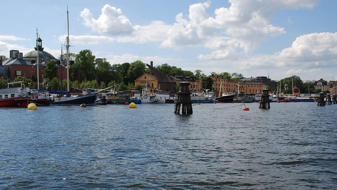 Flüsse und Meer umgeben Stockholm.