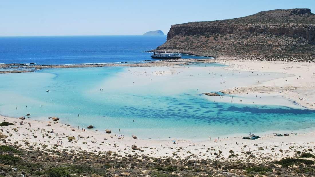 Die Lagune von Balos auf Kreta lädt zum Verweilen ein.