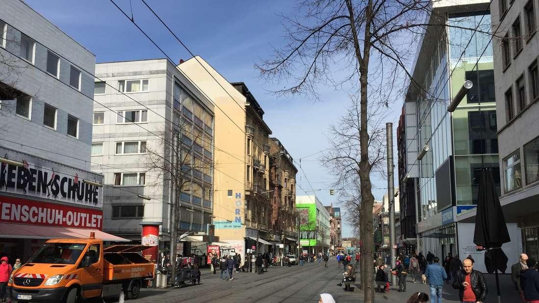 """Blick in die""""Breite Straße"""" – das Sorgenkind des Mannheimer Einzelhandels."""