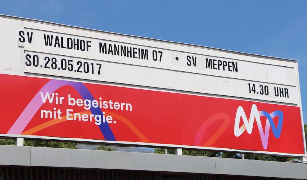 Waldhof Gegen Meppen