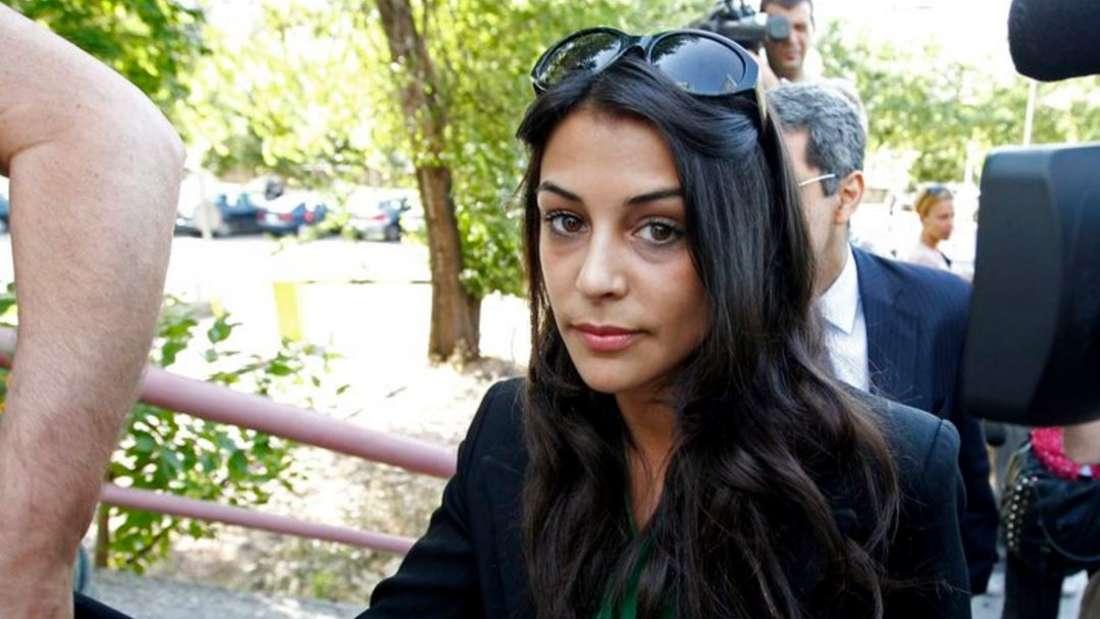 Die spanische Schauspielerin Sara Casasnovas am 29.Juni 2010 in Madrid vor einer Gerichtsverhandlung.