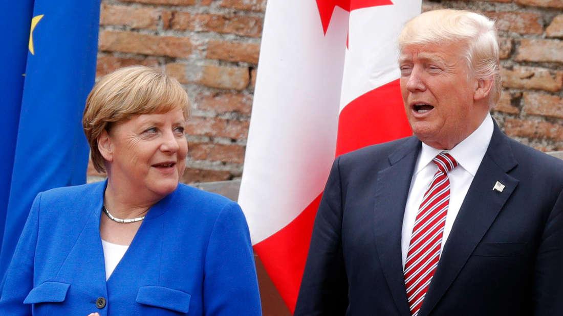 Angela Merkel und Donald Trump während des G7-Gipfels.