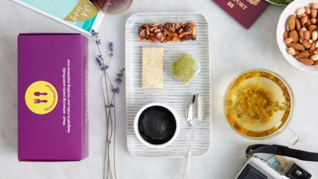 Ein innovatives Flugzeug-Essen soll gegen Flugangst, Stress und Jetlag wirken.