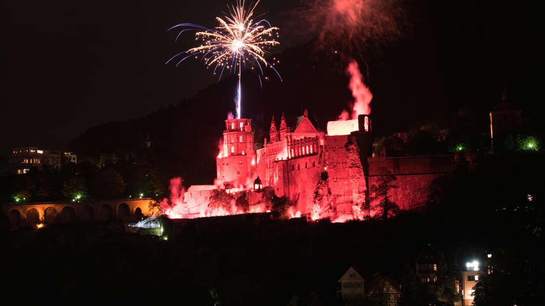 Die 3. und letzte Schlossbeleuchtung in Heidelberg im Jahr 2017.