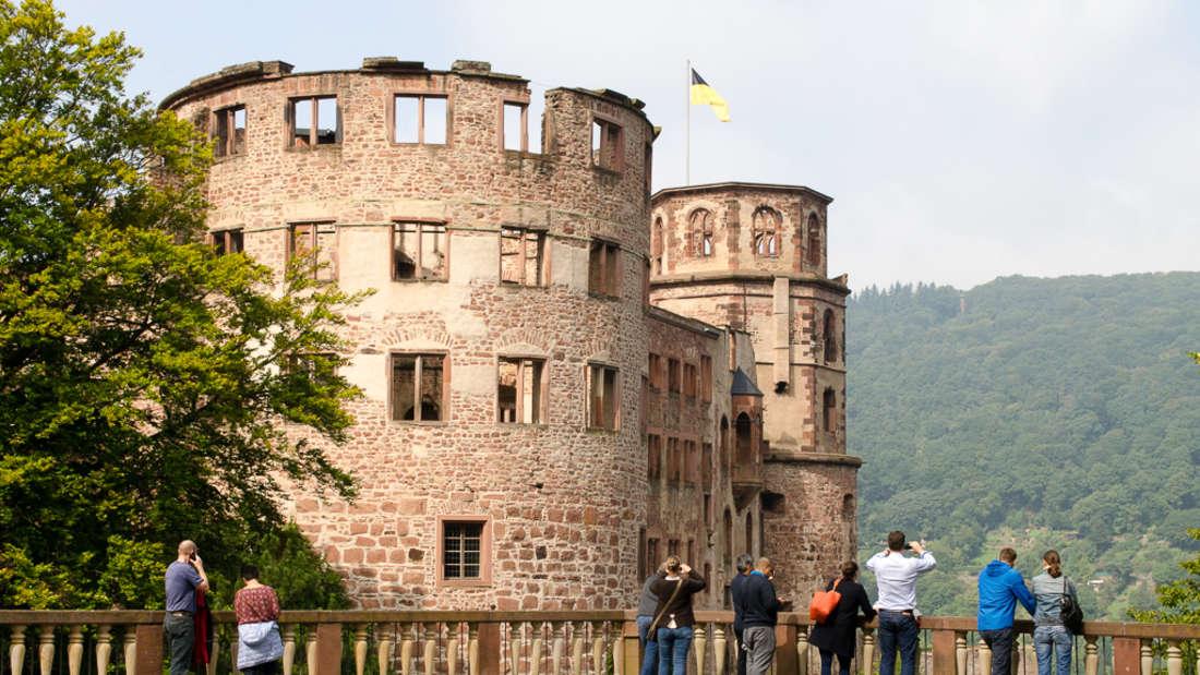 Zeitreise ins 17 .Jahrhundert beim Familienfest im Schlossgarten Heidelberg.
