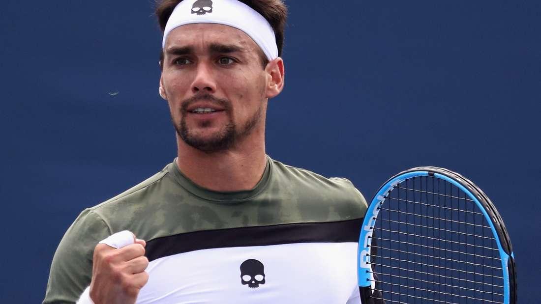 Tennisprofi Fognini entschuldigt sich für Fehlverhalten bei US Open