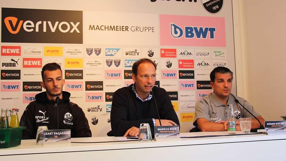 Die Pressekonferenz vor dem Auswärtsspiel des SVS bei Erzgebirge Aue.
