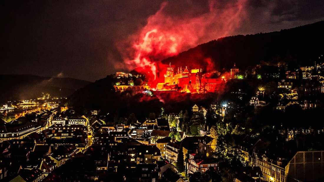 Nicht nur zur Schlossbeleuchtung ein Hingucker – das Heidelberger Schloss.