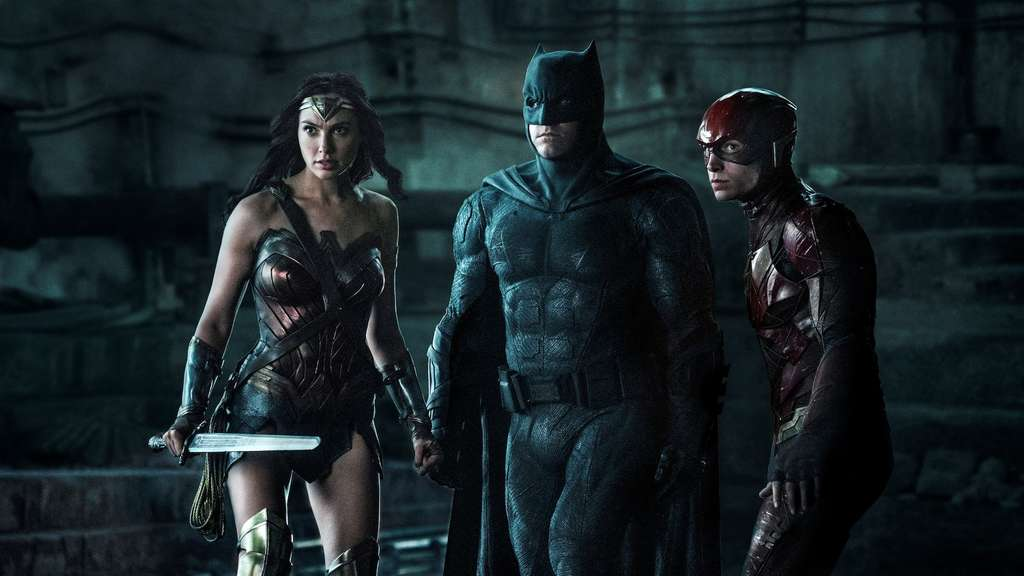 Drei der 'Justice League'-Mitglieder: Wonder Woman, Batman und The Flash (v.l.n.r.).