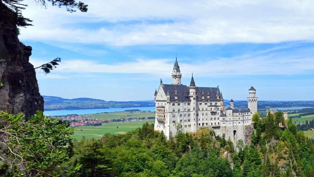 Schloss Neuschwanstein in Schwangau im Allgäu.