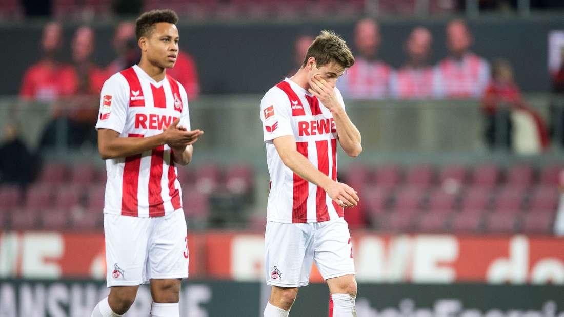 Noch ohne Dreier in dieser Bundesligasaison:Nikolas Nartey (l.) und Lukas Klünter stehen mit dem 1. FC Köln am Tabellenende.