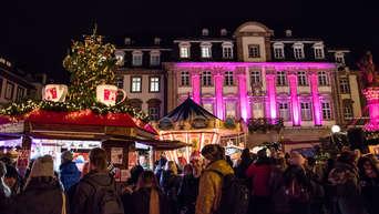 Pinker Weihnachtsmarkt.Heidelberg Altstadt Weihnachtsmarkt Heidelberg Erstrahlt In
