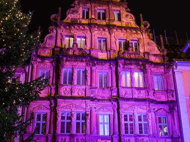 Pinker Weihnachtsmarkt.Fotos Weihnachtsmarkt Heidelberg Erstrahlt In Rosa Vierter