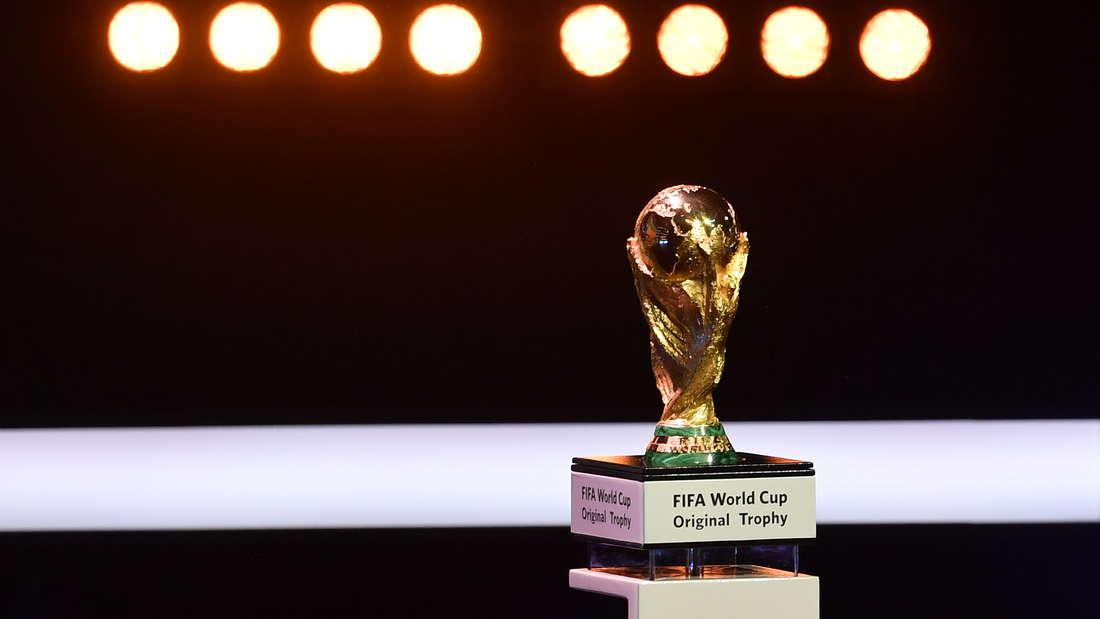 Um den WM-Pokal reißen sich die Mannschaften bei der WM 2018 in Russland.