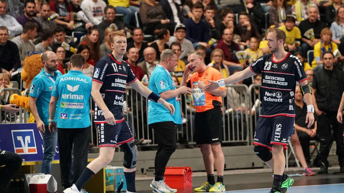 In der SAP Arena: Rhein-Neckar Löwen gewinnen Bundesliga-Spitzenspiel gegen SG Flensburg-Handewitt.