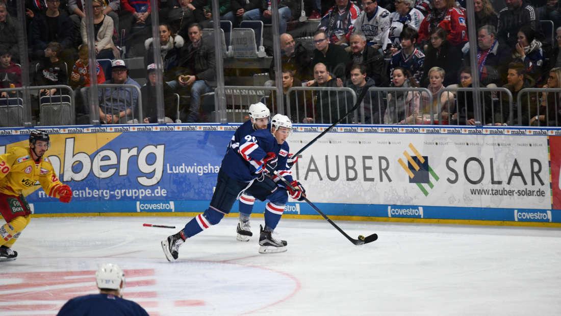 Die Adler Mannheim spielen am 44. Spieltag (21. Januar) in der DEL gegen die Düsseldorfer EG in der SAP Arena. (C) MANNHEIM24/Daniel Glaser