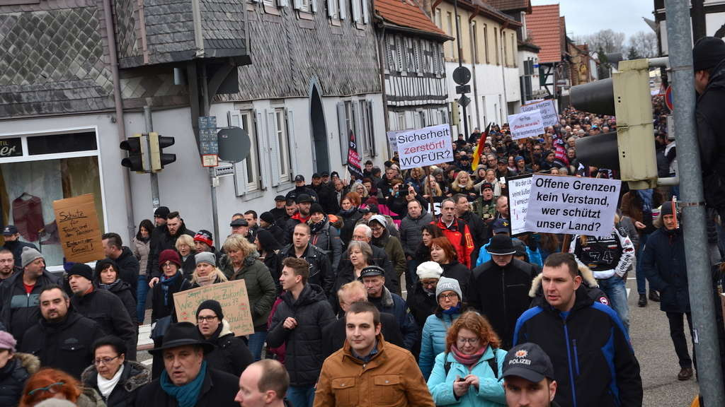 Demonstrationen in Kandel