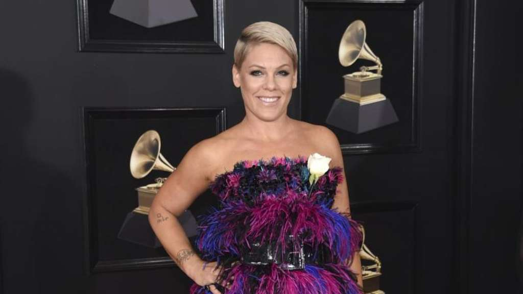 Pink bei der Verleihung der 60. Grammy Awards im Madison Square Garden in New York. Foto: Evan Agostini/Invision