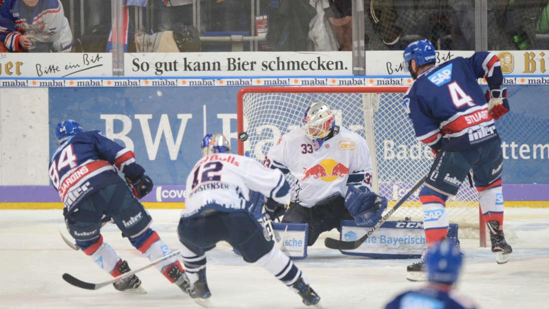 DEL, 48. Spieltag: Adler Mannheim gegen EHC Red Bull München.