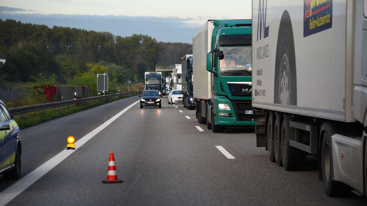 Stau A5 Richtung Frankfurt