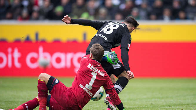 Fotos vom TSG-Remis in Gladbach