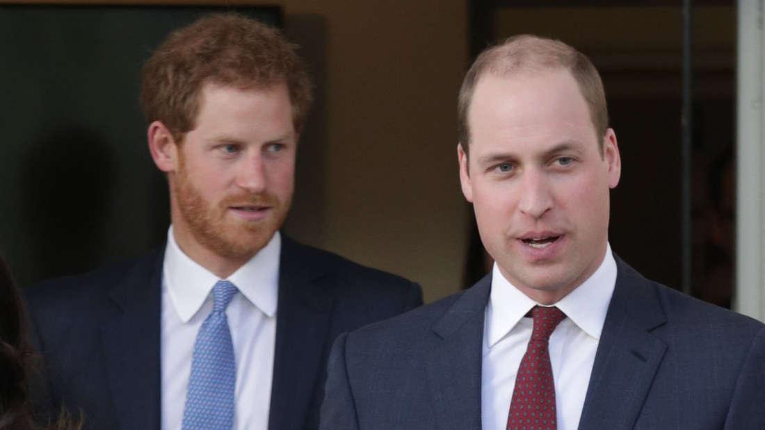 Als potentieller Trauzeuge hat die Hochzeit von Prinz Harry )links) bei William Vorrang.