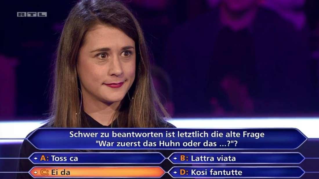 """Laura Brodda in""""Wer wird Millionär?"""""""