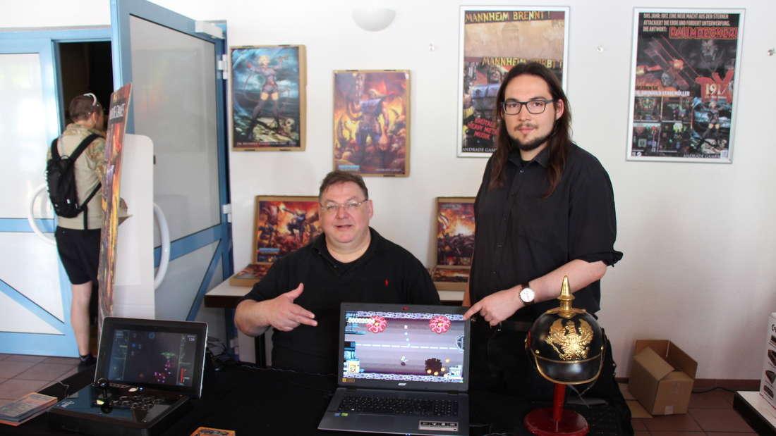 Die Gesichter hinter Andrade Games: Sebastian de Andrade (re) und sein Vater.