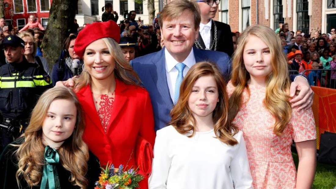 Willem-Alexander und Familie am traditionellen «koningsdag» in Groningen (2018). Foto: Albert Nieboer