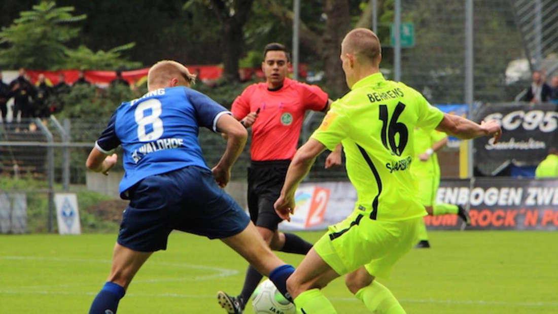 Kevin Behrens (r.) wechselt vom 1. FC Saarbrücken zum SV Sandhausen.