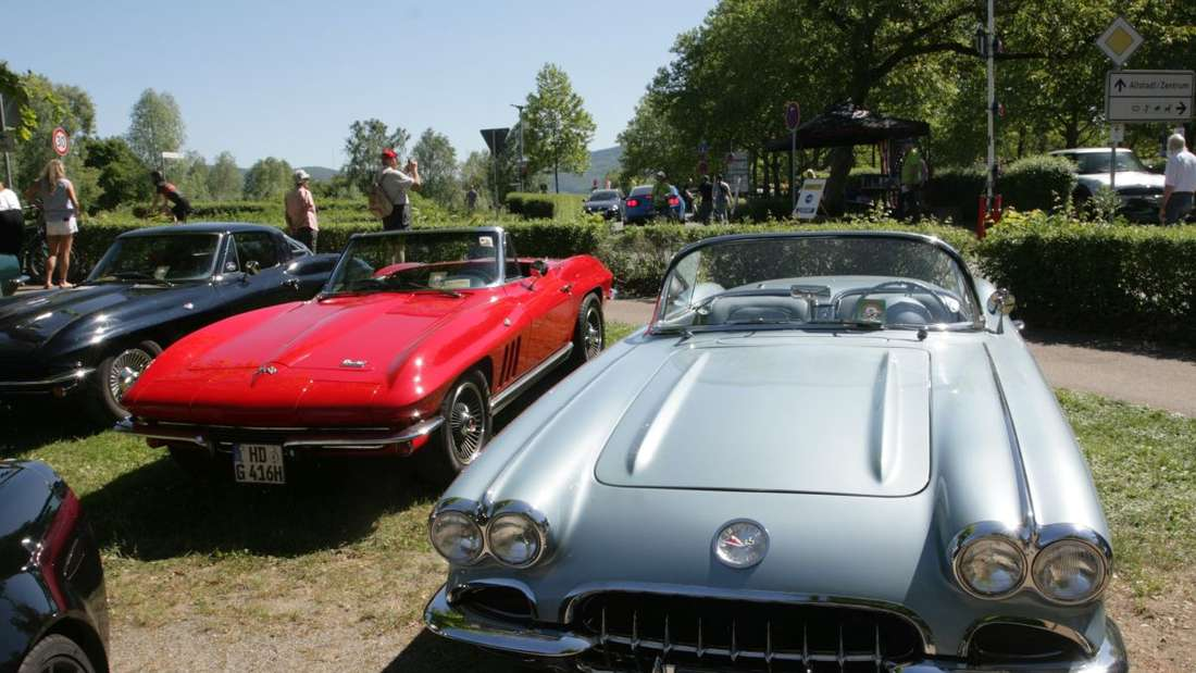 Beim 15. Corvette-Sunday in Ladenburg schlagen die Herzen der Autoliebhaber höher.