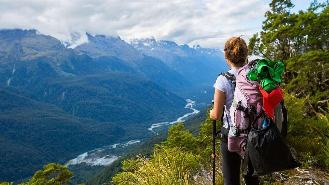 Wandern in Neuseeland.