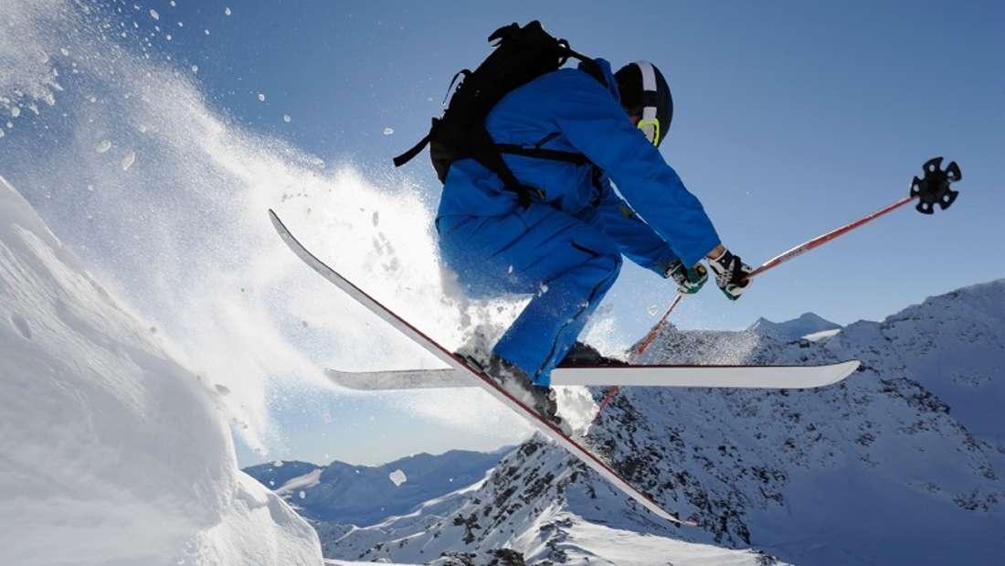 Skifahren in Italien.
