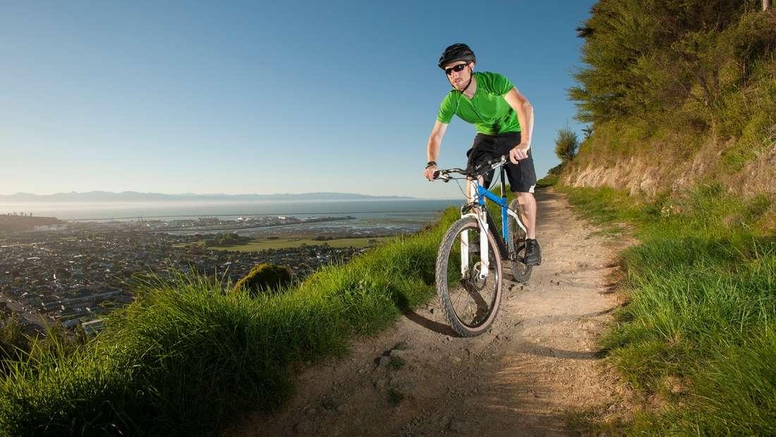 Mountainbiken in Neuseeland.