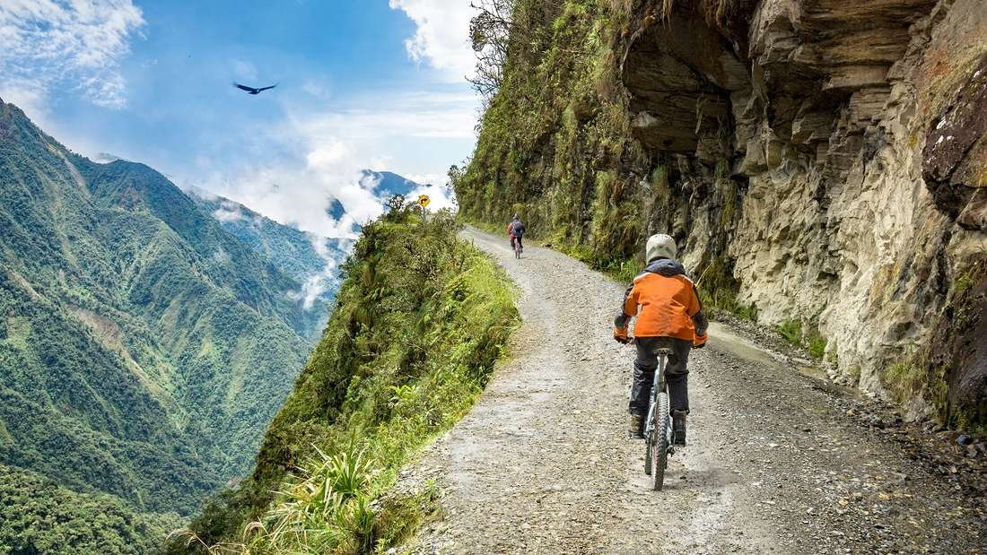 Mountainbiken in Bolivien.