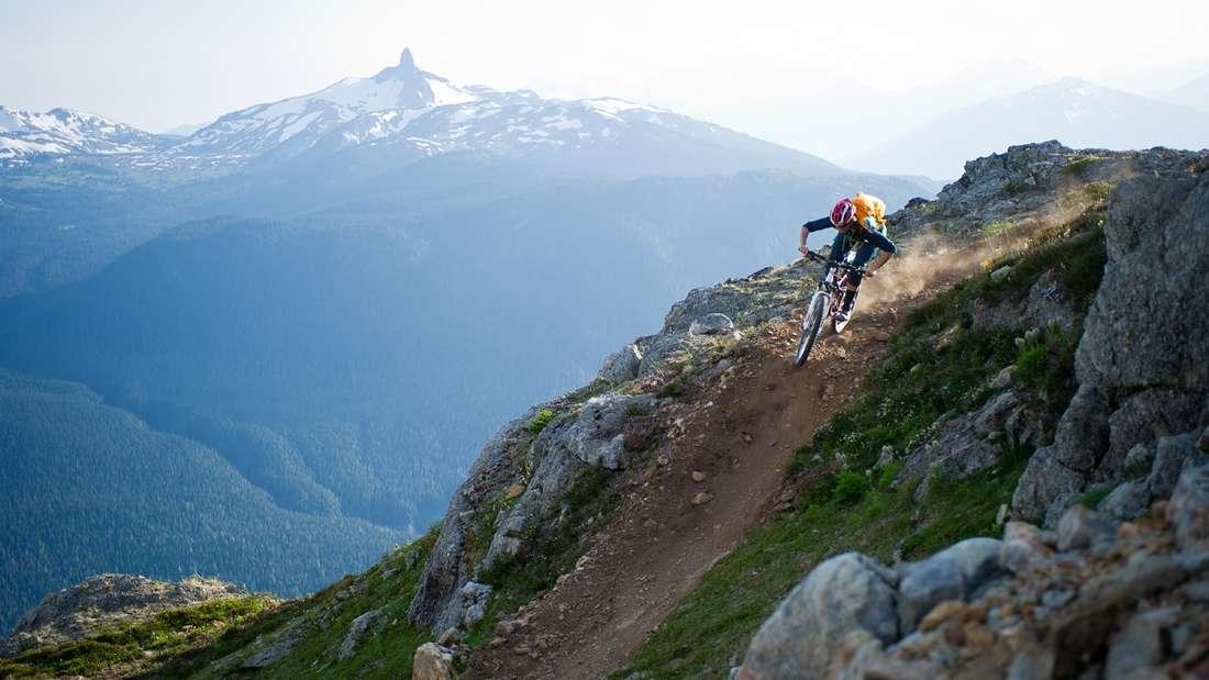 Mountainbiken in Kanada.