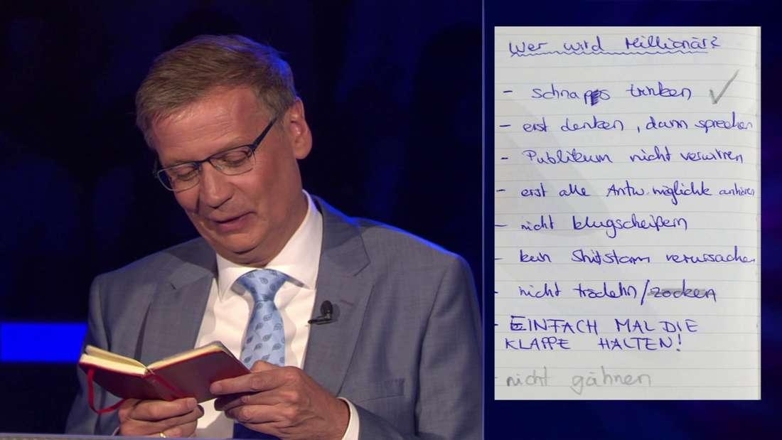 Günter Jauch liest Anna Marias Liste.