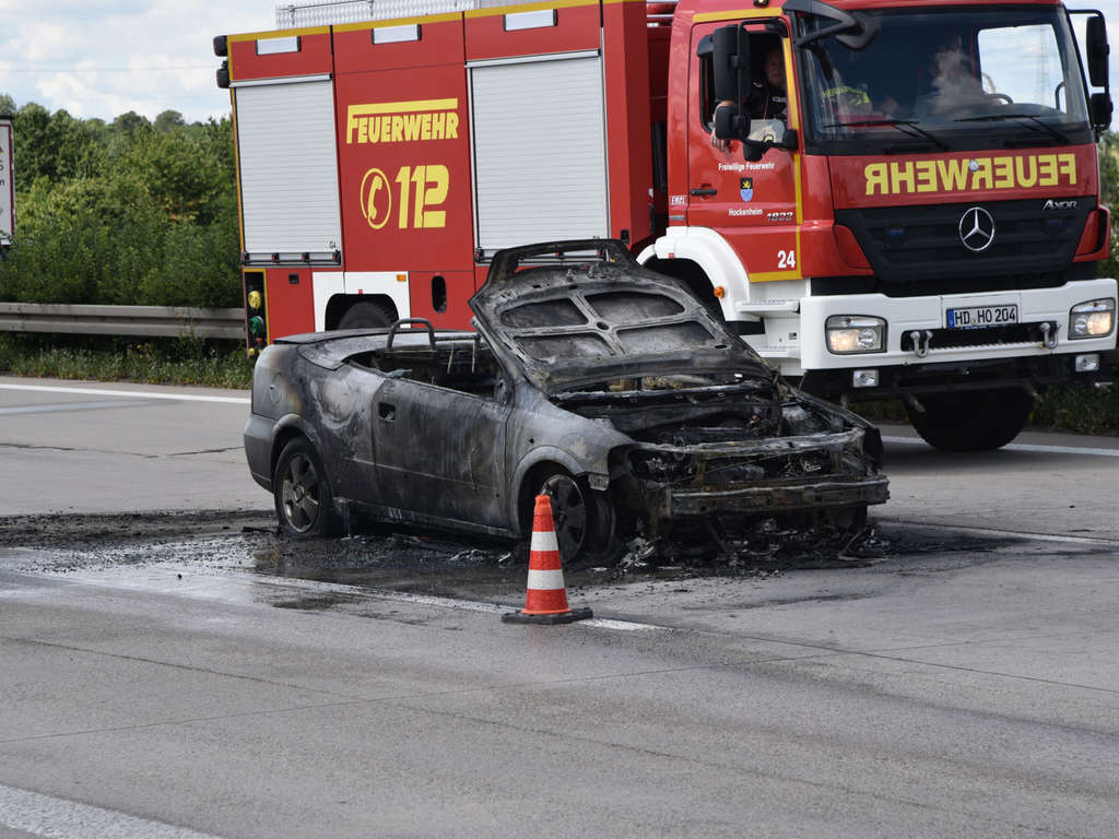 Wiesloch Walldorf Feuerwehr Im Einsatz Auto Auf A6