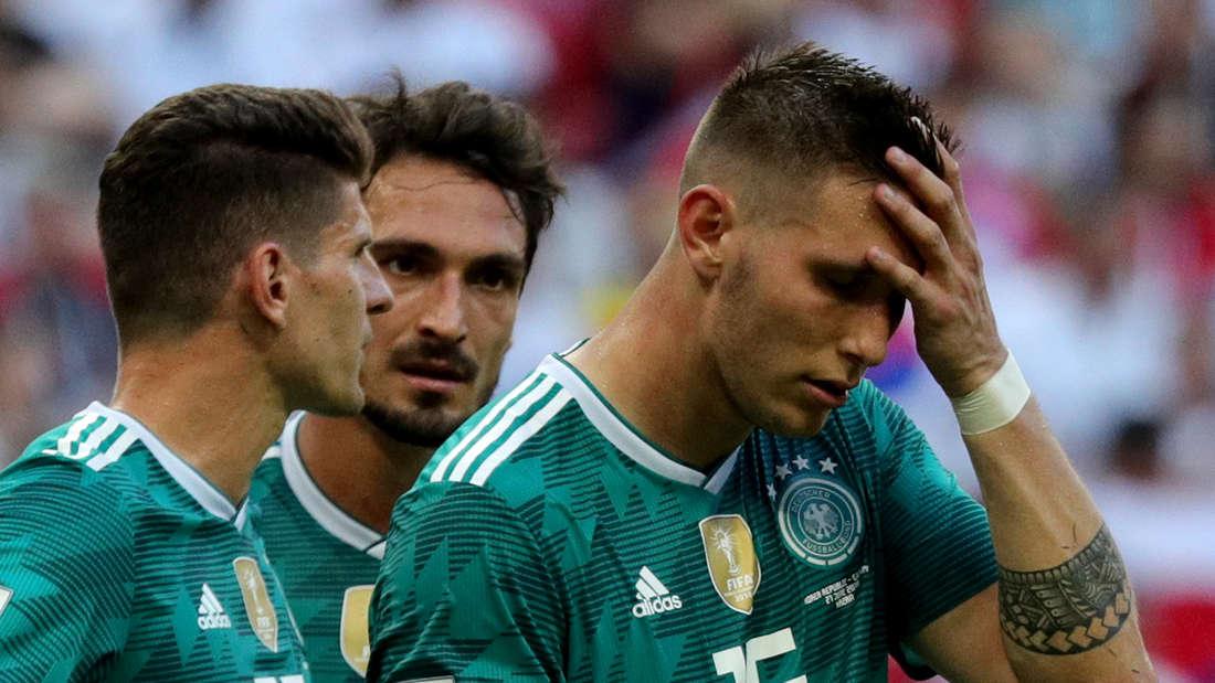 Gomez, Hummels und Süle nach dem WM-Aus.