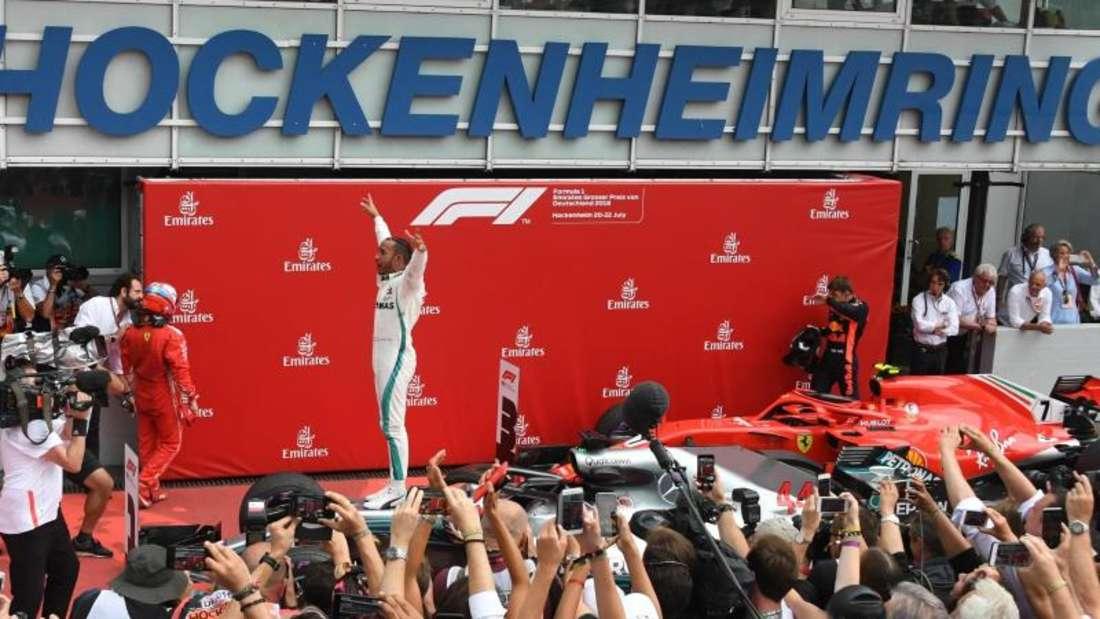 Hamilton gewann das vorerst letzte Formel-1-Rennen in Deutschland. Foto: Jan Woitas