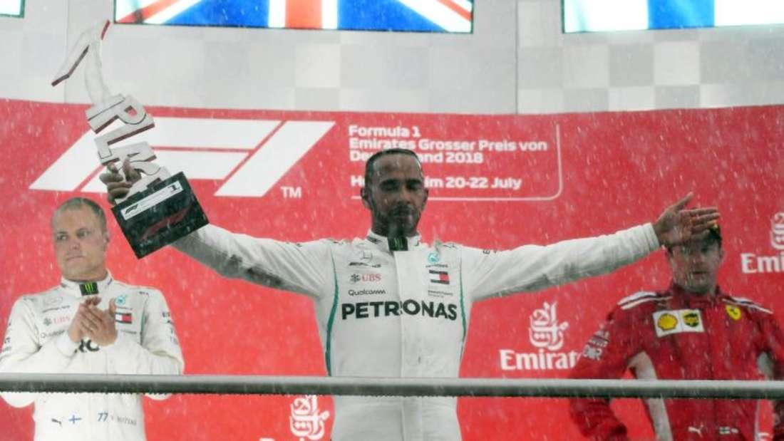 Lewis Hamilton profitierte vom Regen beim Großen Preis von Deutschland. Foto: Jan Woitas