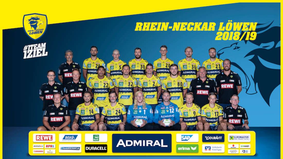Teamfoto der Rhein-Neckar Löwen
