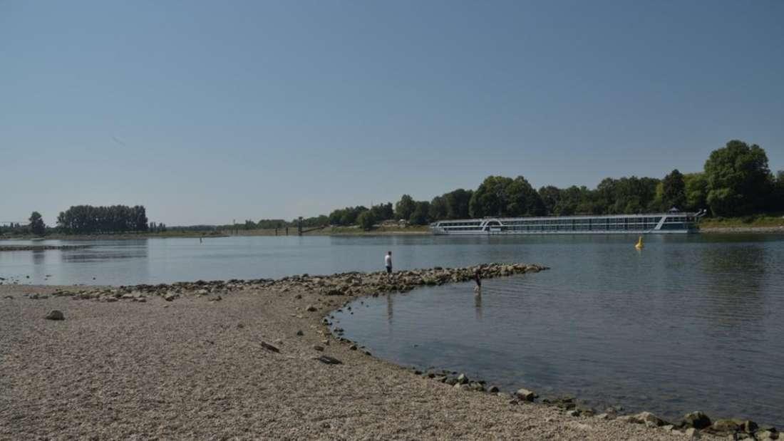 Auch bei niedrigem Flusspegel ist Schwimmen im Rhein gefährlich (Symbolfoto)