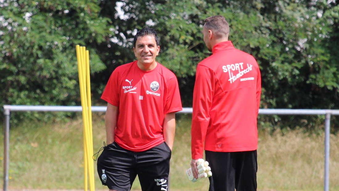 Kenan Kocak (li.) will mit dem SV Sandhausen den Hamburger SV ärgern (Archivfoto).